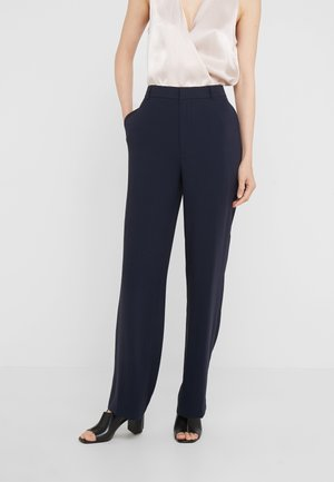 HUTTON CREPE TROUSER - Kalhoty - navy