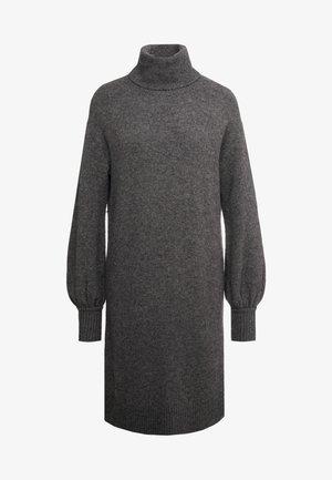 SUPERSOFT TURTLENECK DRESS - Pletené šaty - charcoal