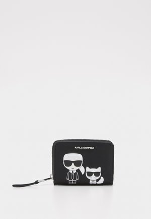 IKONIK FOLDED ZIP WALLET - Lommebok - black