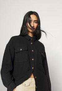 Noisy May - NMFLANNY LONG SHACKET - Skjorte - black - 5