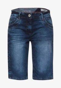 Cecil - Denim shorts - m blue denim - 3