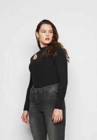 Even&Odd Curvy - Long sleeved top - black - 0