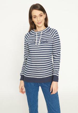 Sweatshirt - navy melange pearl