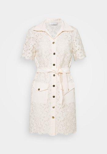 Shirt dress - ecru