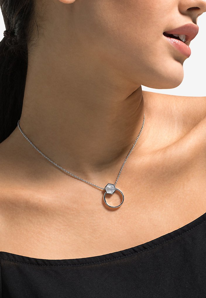 JETTE - LUCKY CHARM - Necklace - silver-colored
