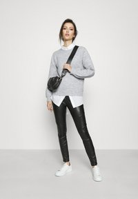 Pieces - PCPERLA  - Jumper - light grey melange - 1