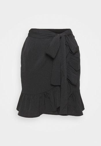 ONLOLIVIA WRAP SKIRT - Omslagsskjørt - black