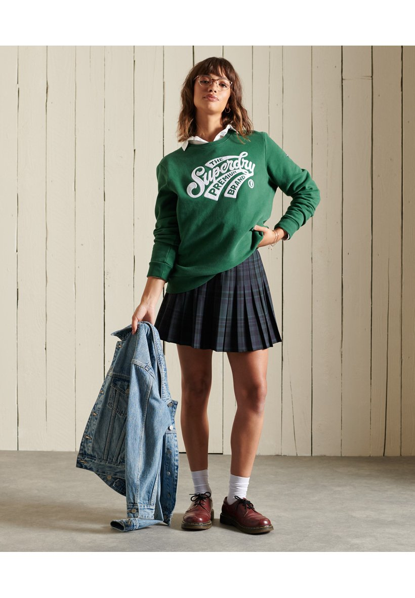 Women CHECK PLEATED MINI - Pleated skirt