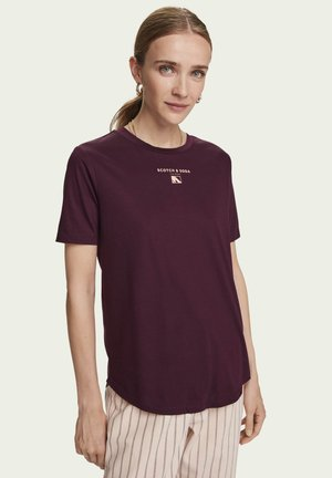 ARTWORK  - Print T-shirt - burned plum
