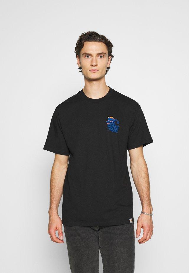 SOCIETY - T-shirt z nadrukiem - black