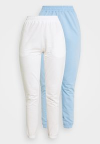 Missguided - BASIC JOGGERS 2 PACK - Tracksuit bottoms - blue bell/snow white - 4