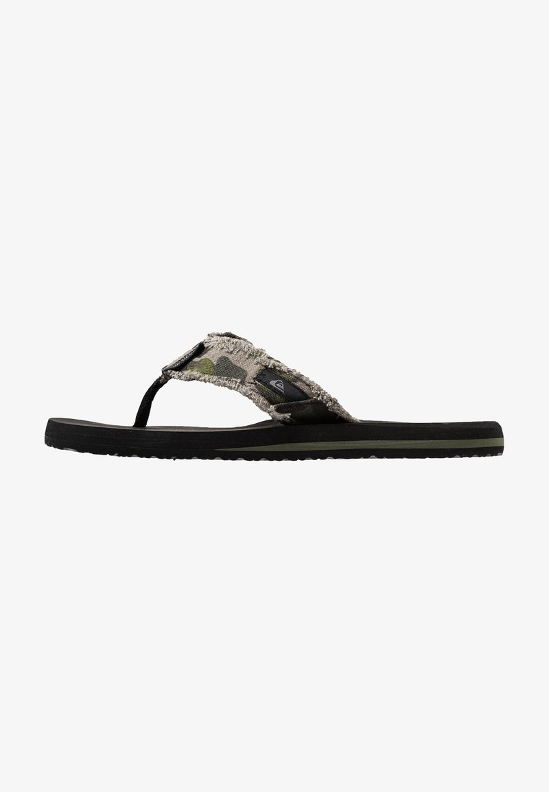 Quiksilver - MONKEY ABYSS - T-bar sandals - green/black/brown
