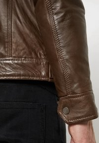 Serge Pariente - ERIC HOOD - Leather jacket - mocca - 7
