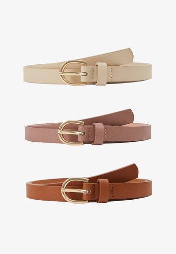 3 PACK - Waist belt - cognac/rose/beige