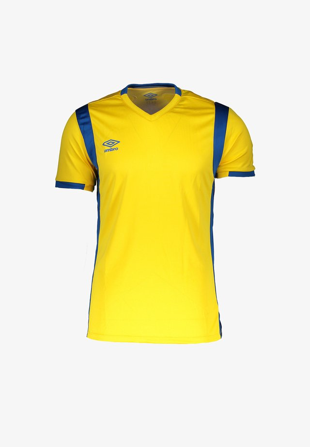 Print T-shirt - gelbblau
