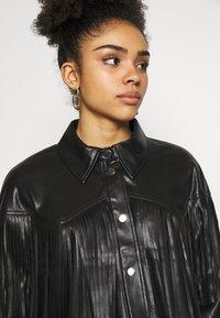 River Island Petite - Faux leather jacket - black - 3