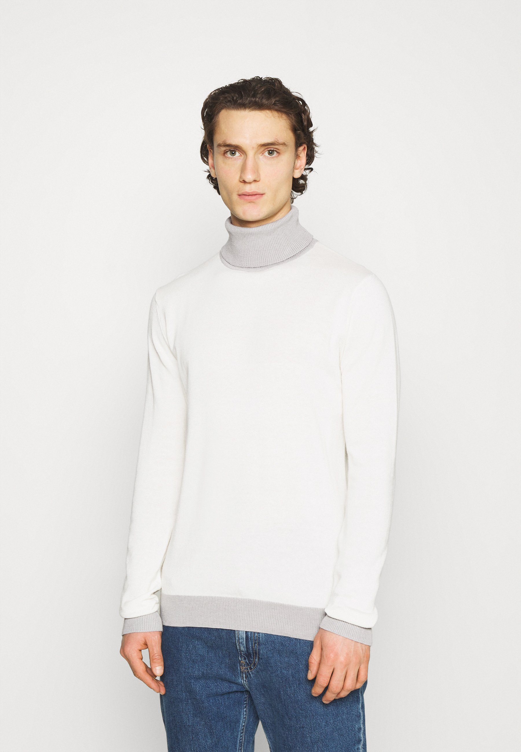 Men COBY - Jumper - vintage white/ light grey