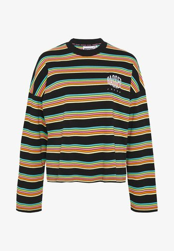 SKATER - Long sleeved top - black/rainbow
