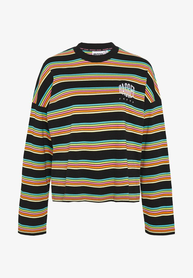 SKATER - Long sleeved top - black/rainbow