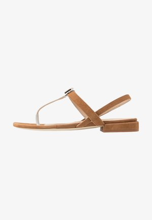 1927 THONG - T-bar sandals - cognac/talco