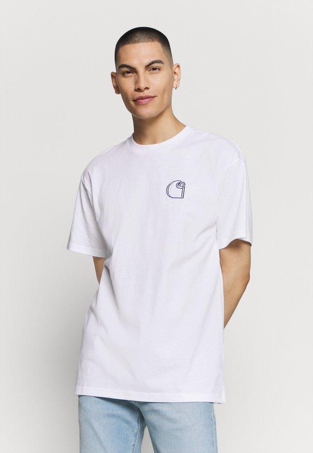 COMMISSION LOGO - T-shirt imprimé - white