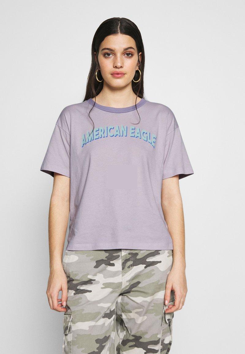 American Eagle - BRANDED MICKEY TEE - Print T-shirt - lavender