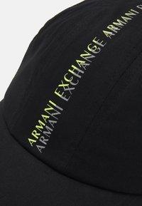 Armani Exchange - BASEBALL CENTRAL PRINT   - Cap - black - 3