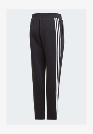 3-STRIPES DOUBLEKNIT TAPERED LEG TRACKSUIT BOTTOMS - Tracksuit bottoms - black