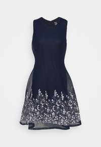 DKNY - EMBROIDERED FIT AND FLARE - Robe fourreau - midnight/ivory - 5