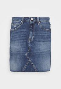 Tommy Jeans - SHORT SKIRT - Mini skirt - blue denim - 4