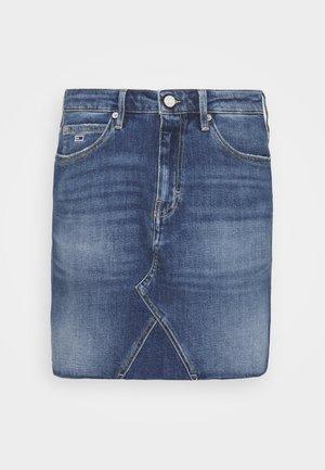 SHORT SKIRT - Mini skirt - blue denim