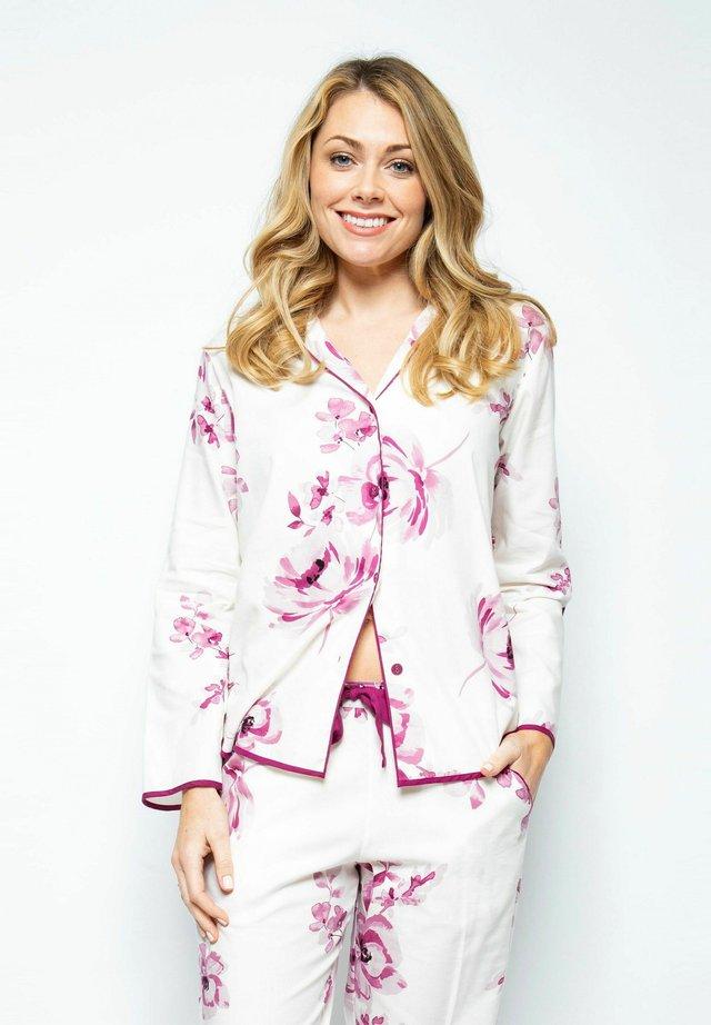 Pyjamashirt - burgundy floral