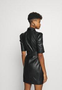 Object - OBJSTAR  DRESS  - Shirt dress - black - 2