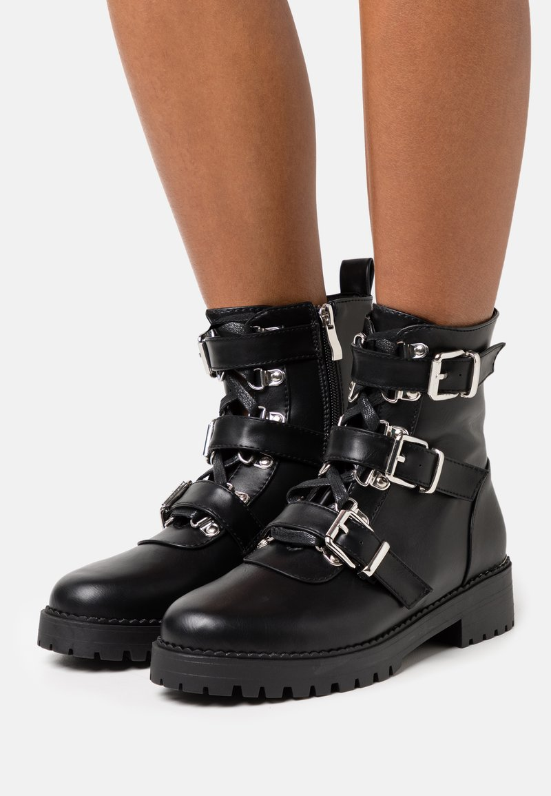RAID - LUCIA BOOTIE - Cowboy/biker ankle boot - black