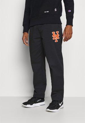 MLB PREMIUM NEW YORK METS STRAIGHT HEM PANTS - Klubové oblečení - black