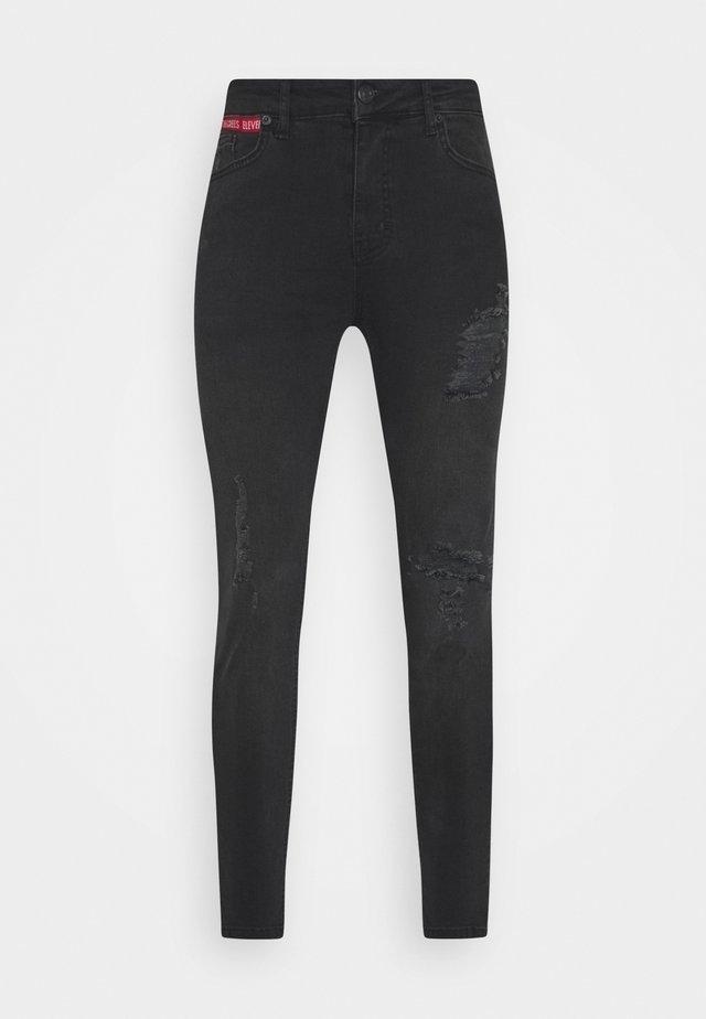 ABRASION SUPER SKINNY - Slim fit jeans - black