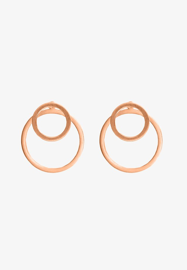 EAR JACKET 2 -IN -1 - Oorbellen - rose gold-coloured