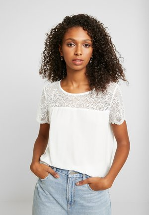 VIMERO LACE S/S TOP/SU -NOOS - Blouse - snow white