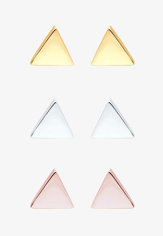 DREIECK  3 PACK  - Oorbellen - silver/gold/rosé-coloured