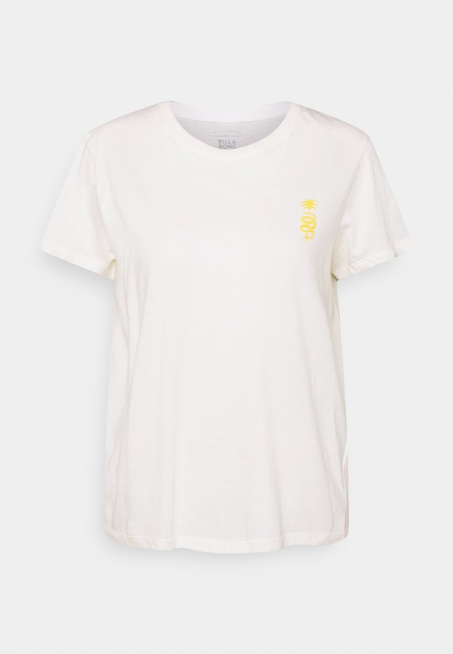 FOLLOW THE SUN - T-shirts med print - salt crystal