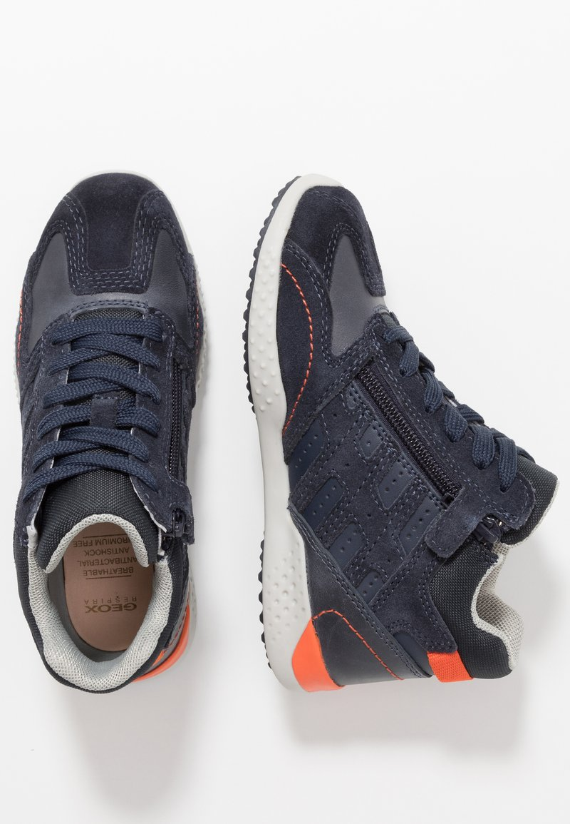 Geox - SNAKE.2 BOY - Baskets montantes - navy