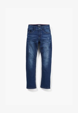 REGULAR FIT SWEAT-JEANS - Slim fit jeans - dark blue