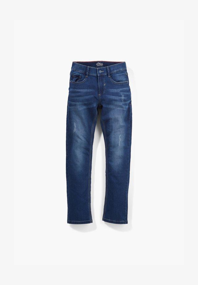 REGULAR FIT SWEAT-JEANS - Slim fit jeans - dark blue