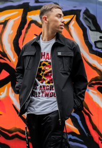 Ed Hardy - URBAN-TIGER NYLON POLY STRETCH SHACKET - Summer jacket - black - 3