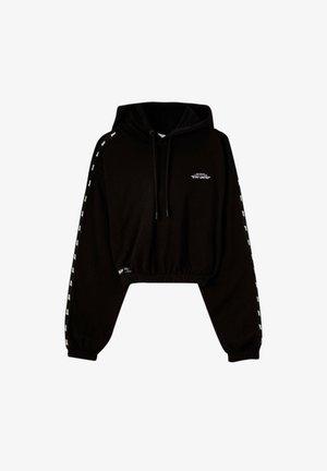 HOODIE MIT FARBLICH ABGESETZTEN STWD-STREIFEN - Sweatshirts - black