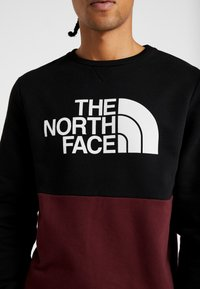 The North Face - CANYONWALL CREW - Felpa - black/deep garnet red - 7