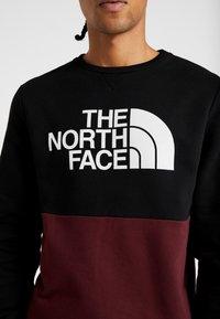 The North Face - CANYONWALL CREW - Sweatshirt - black/deep garnet red - 7