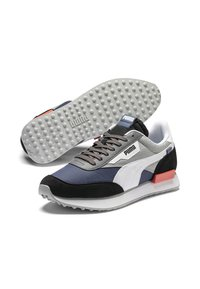 Puma - FUTURE RIDER PLAY ON UNISEX - Baskets basses - black-white-blue indigo - 3