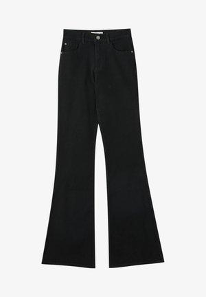 FLARE - Bootcut jeans - mottled black