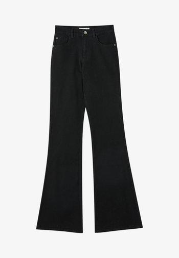 FLARE - Džíny Bootcut - mottled black